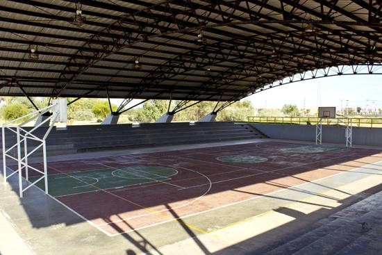 Cancha de basketball en Parque Centenario Mexicali
