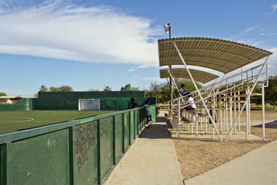 Cancha de fútbol rápido en Parque Centenario Mexicali