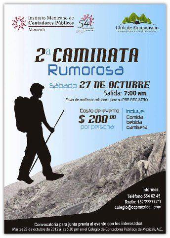 2nda caminata Rumorosa
