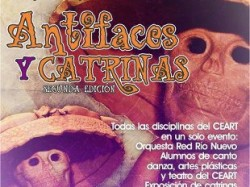 Antifaces y catrinas