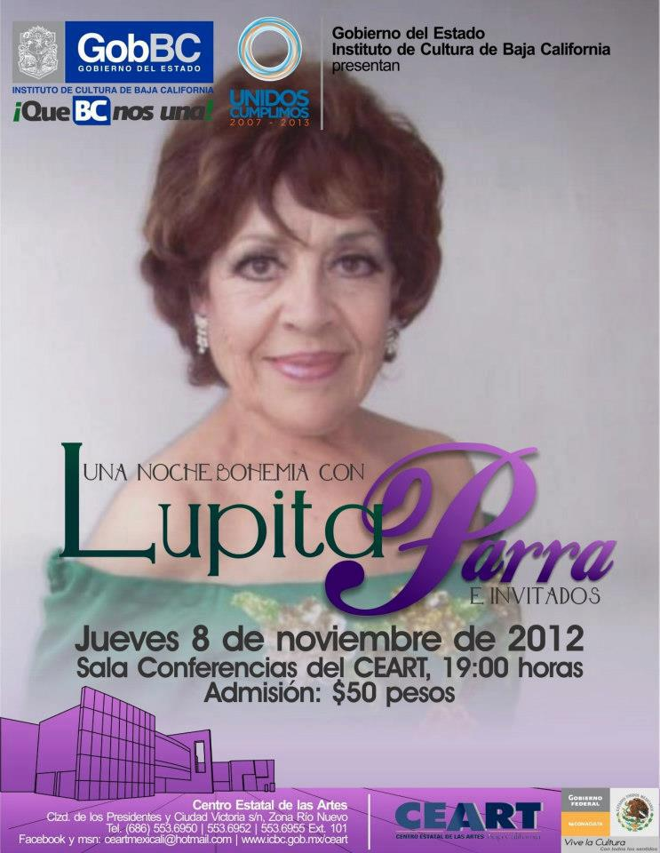 Noche bohemia con Lupita Parra