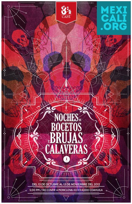 Exposición Noches Bocetos Brujas Calaveras en Mexicali