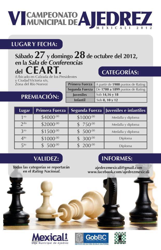 VI Campeonato municipal de Ajedrez
