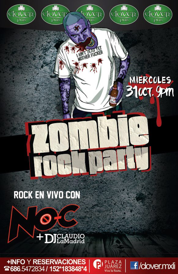 Zombie rock party