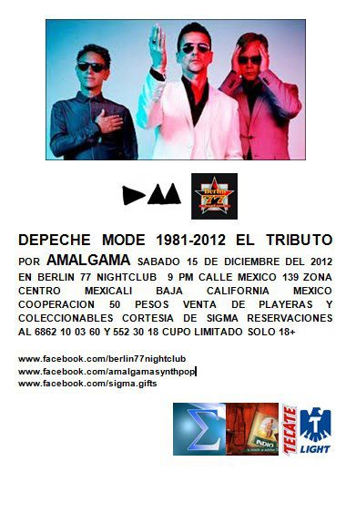 Depeche Mode el tributo