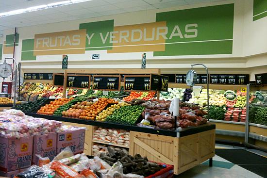 Frutas y verduras en Calimax Lázaro Cardenas