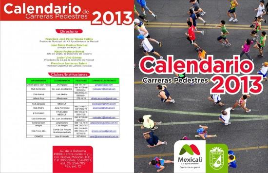 Directorio de carreras pedestres 2013 en Mexicali
