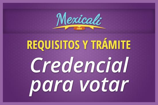 Credencial para votar IFE en Mexicali