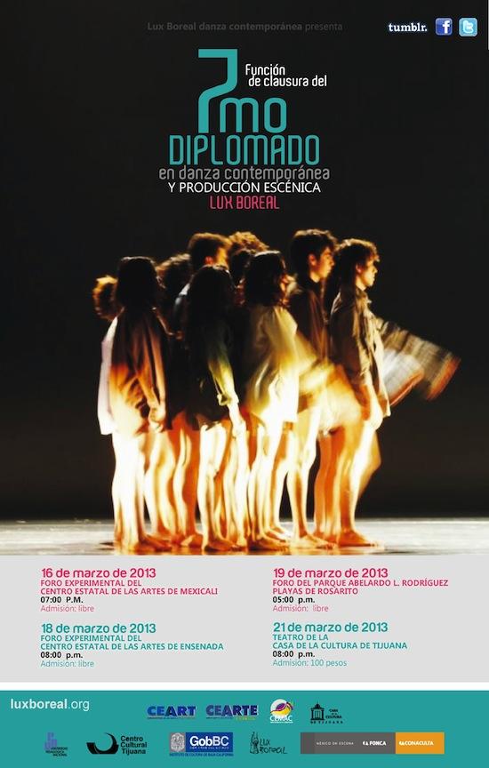 Clausura del 7mo Diplomado en Danza Contemporánea y Producción Escénica en Mexicali