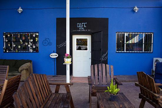 cafe azul entrada