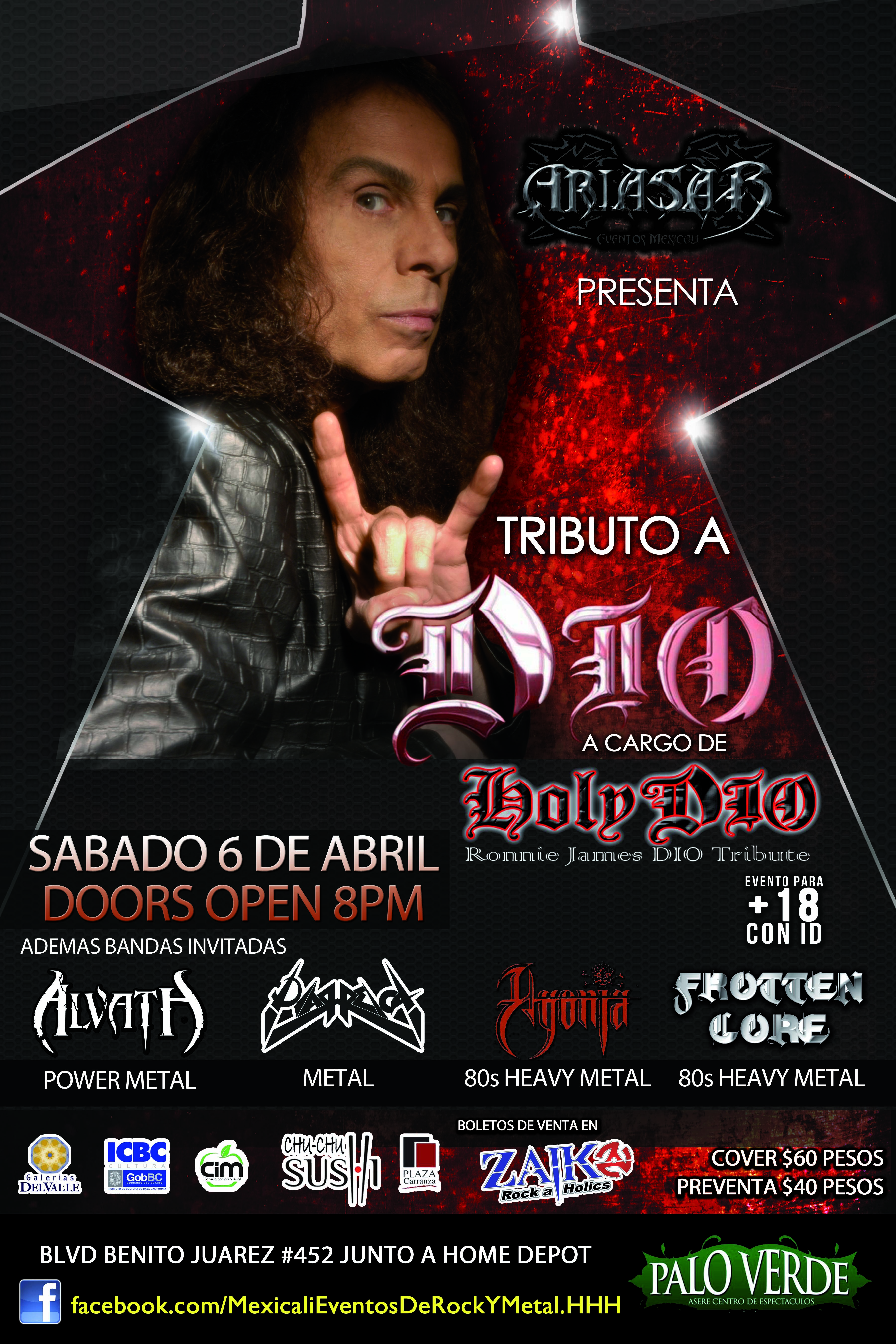Tributo a Dio en Mexicali