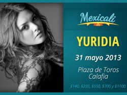 Yuridia en Mexicali 2013