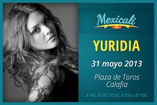 Foto de Yuridia en Mexicali 2013