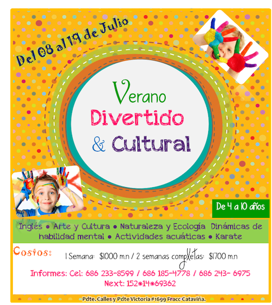 Verano divertido y cultural en Mexicali