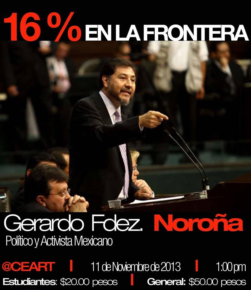Gerardo Fernández Noroña en Mexicali