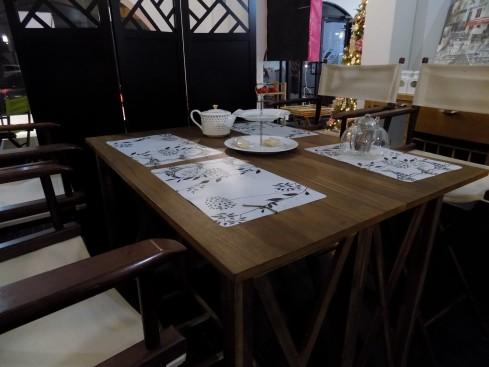 Comedor en el salón de té