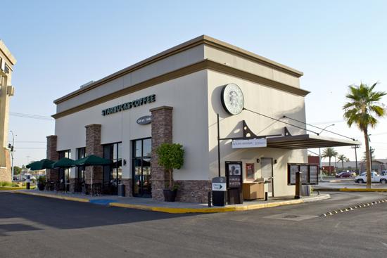 Starbucks Plaza Lienzo