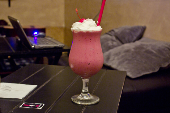 Glacé de frambuesa