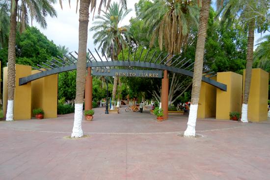 Plaza Benito Juárez en San Luis Río Colorado