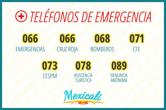 Teléfonos de Emergencia de Mexicali