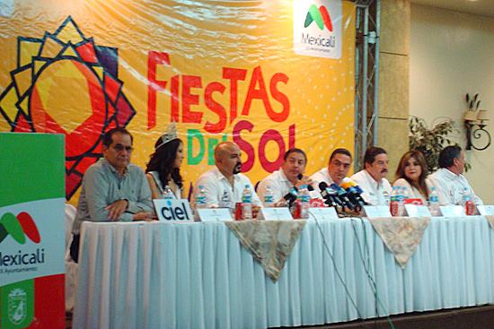 Rueda de Prensa de Fiestas del Sol en Mexicali