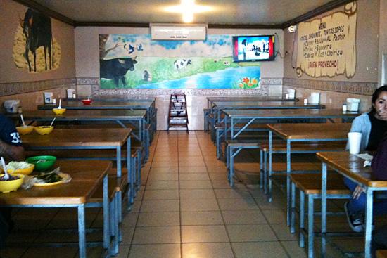 Interior del Asadero El Torito