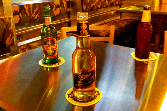 Variedad de cervezas en Wings Army